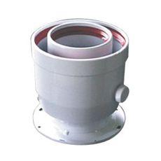Vertikālā koaksiālā pāreja no Ø 60/100 mm uz Ø 80/125 mm