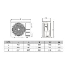 Кondicionētājs GOLD 9 R32 (2.6/3.3kW) (40 m2)