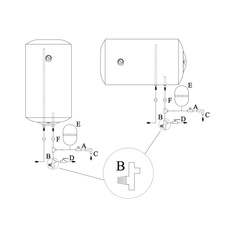Kombi.boiler. 120 l vertikalais Calypso MT 2 spirāles