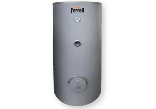 ECOGEO H-1 P 200 Vertikāla karstā ūdens uzglabāšanas tvertne siltumsūkņa izmantošanai ar vienu spirālveida siltummaiņi